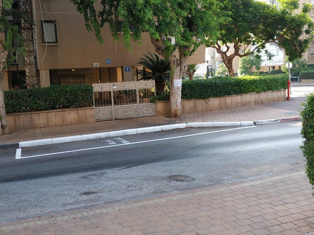 חניה שמורה עבור הרכב השיתופי ברחוב בארי