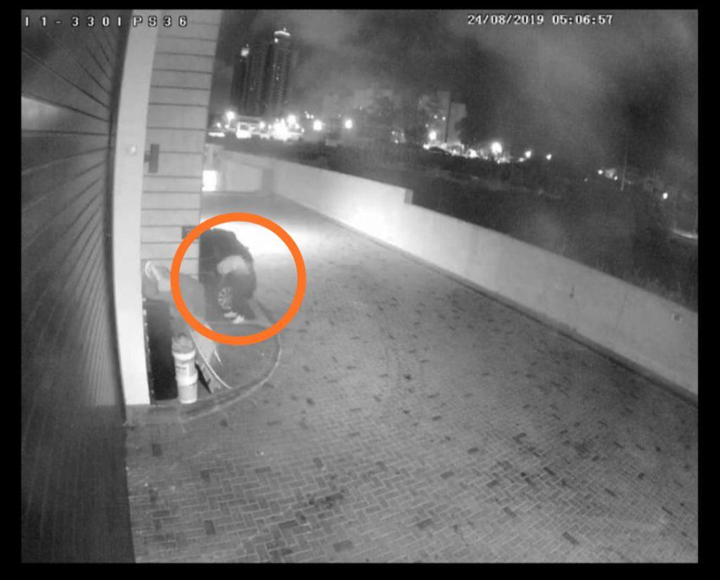 תיעוד ממצלמות האבטחה