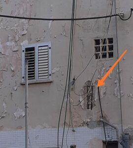 שלד הבנין חשוף. צילום: אורנה חושפת